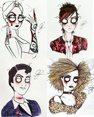 Love this loopy fan art the countess tristan james for Ahs hotel decor