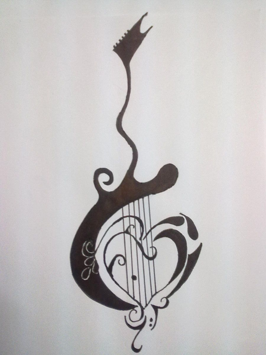 Guitar Tattoo By Gamerextremer On Deviantart Guitar Tattoo Design Music Tattoo Designs Great Tattoos