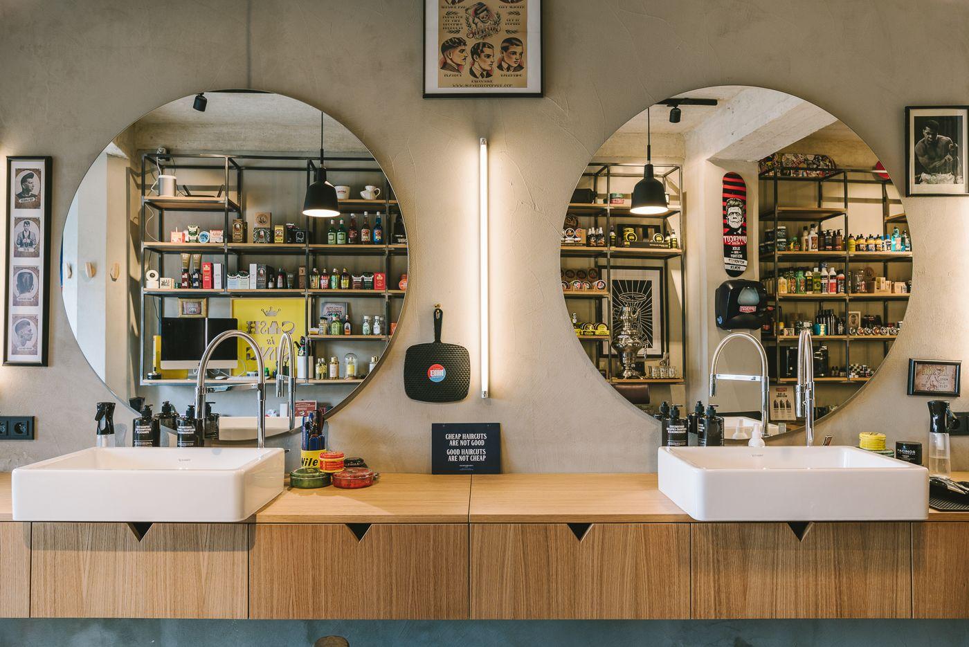 Hero Barber X Shop Mirrors Barbershop Interior Pinterest