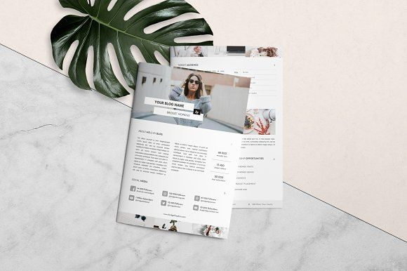 Media Kit Template and Ad Rate Sheet by Leo Resume on - rate sheet template
