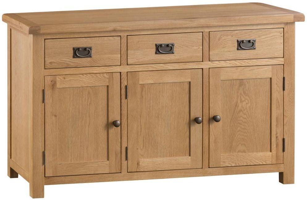 Oakland Oak 3 Door 3 Drawer Sideboard Rustic Oak Furniture Oak Sideboard Large Sideboard