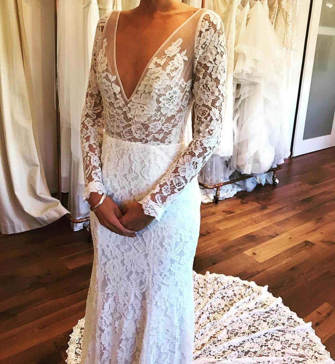 Made with love frankie gown with added sleeves ali nicole