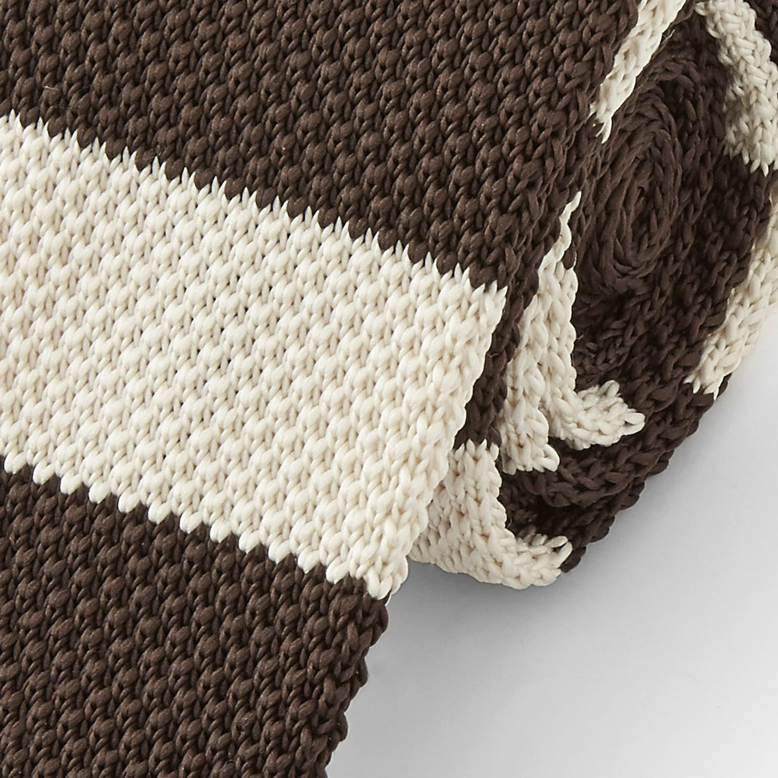 Photo of Brown & White Knitted Tie | In stock! | Tailor Toki