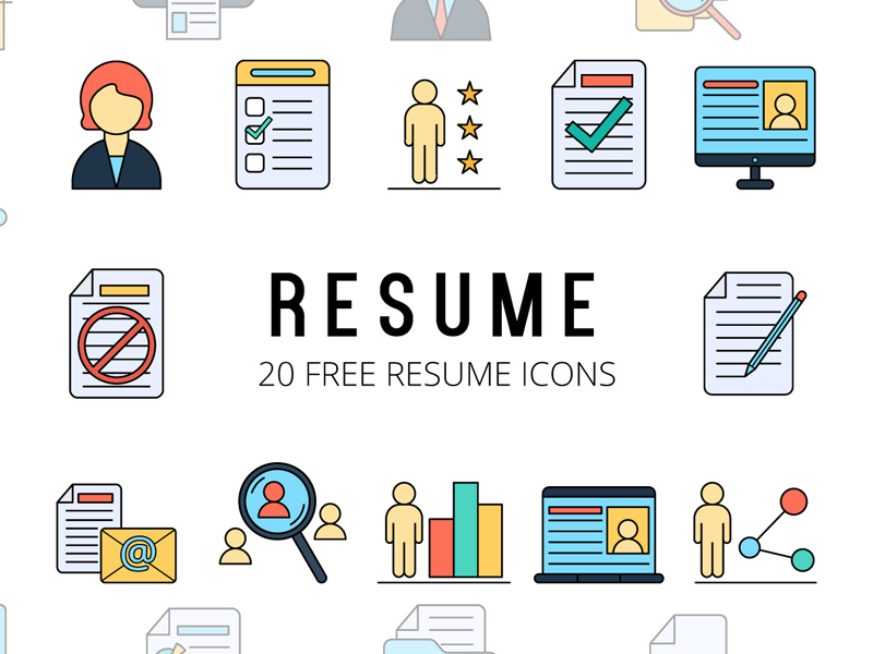 Resume Vector Freebie Icon Set (With images) Resume