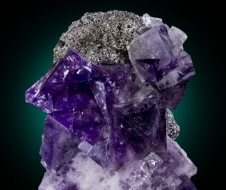 Fluorite with Galena from Frazer's Hush Mine, Rookhope, Co. Durham