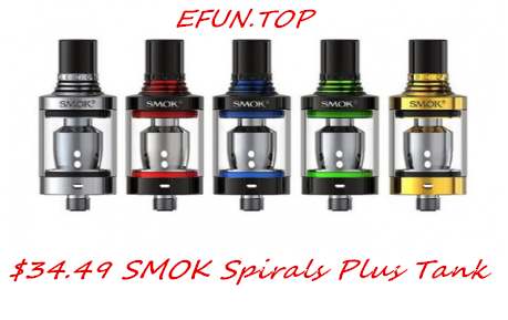 How About $34.49 SMOK Spirals Plus Tank ?