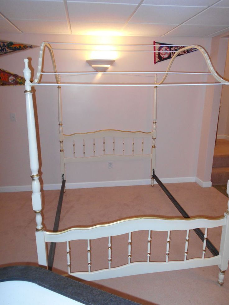 1960u0027s French Provincial Girlsu0027 Canopy Bedroom Furniture   Google Search