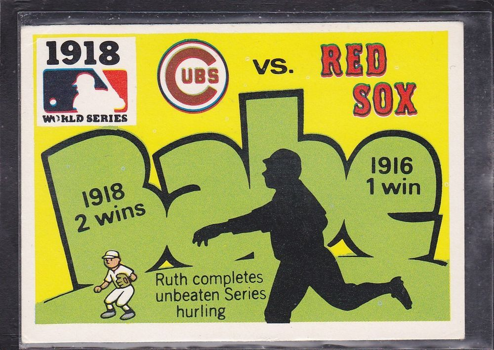 1971 fleer 1918 world series game baseball card 1