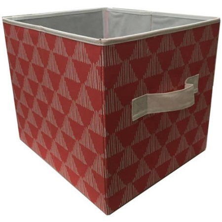 Better Homes And Gardens Collapsible Fabric Storage Cube, Set Of 2,  Multiple Colors, Orange