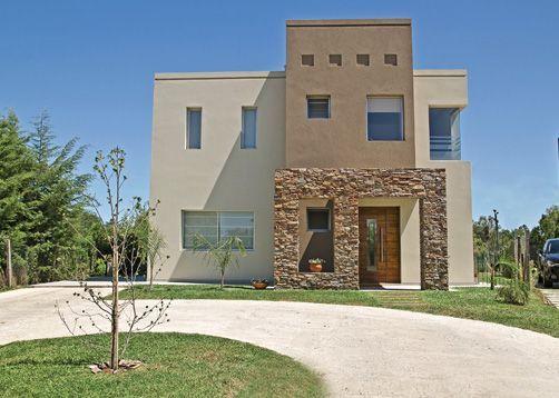 moderna fachadas casas con piedra