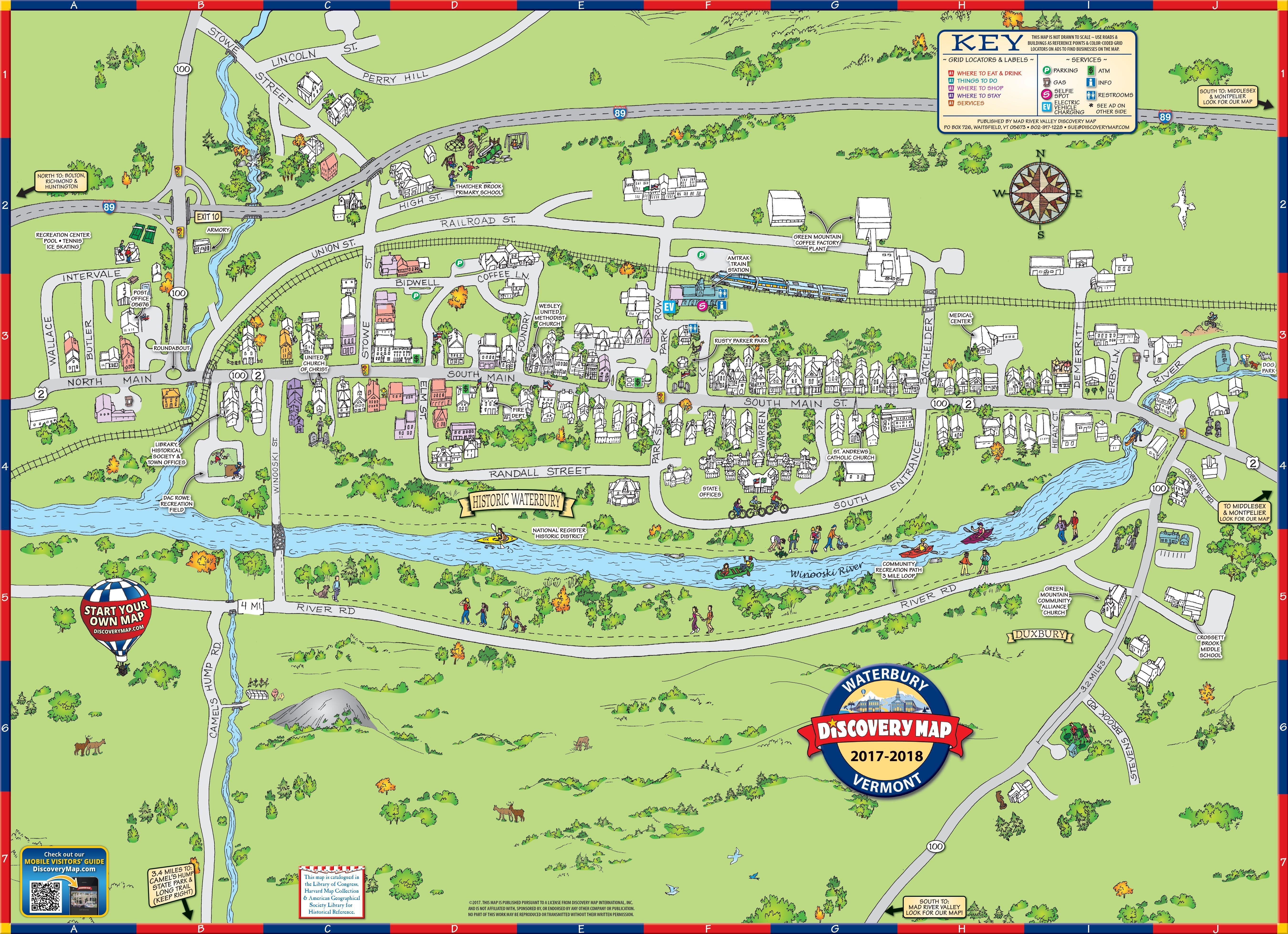 Map Of Waterbury Vermont Waterbury, Vermont | Vermont in 2019 | Waterbury vermont, Vermont, Map