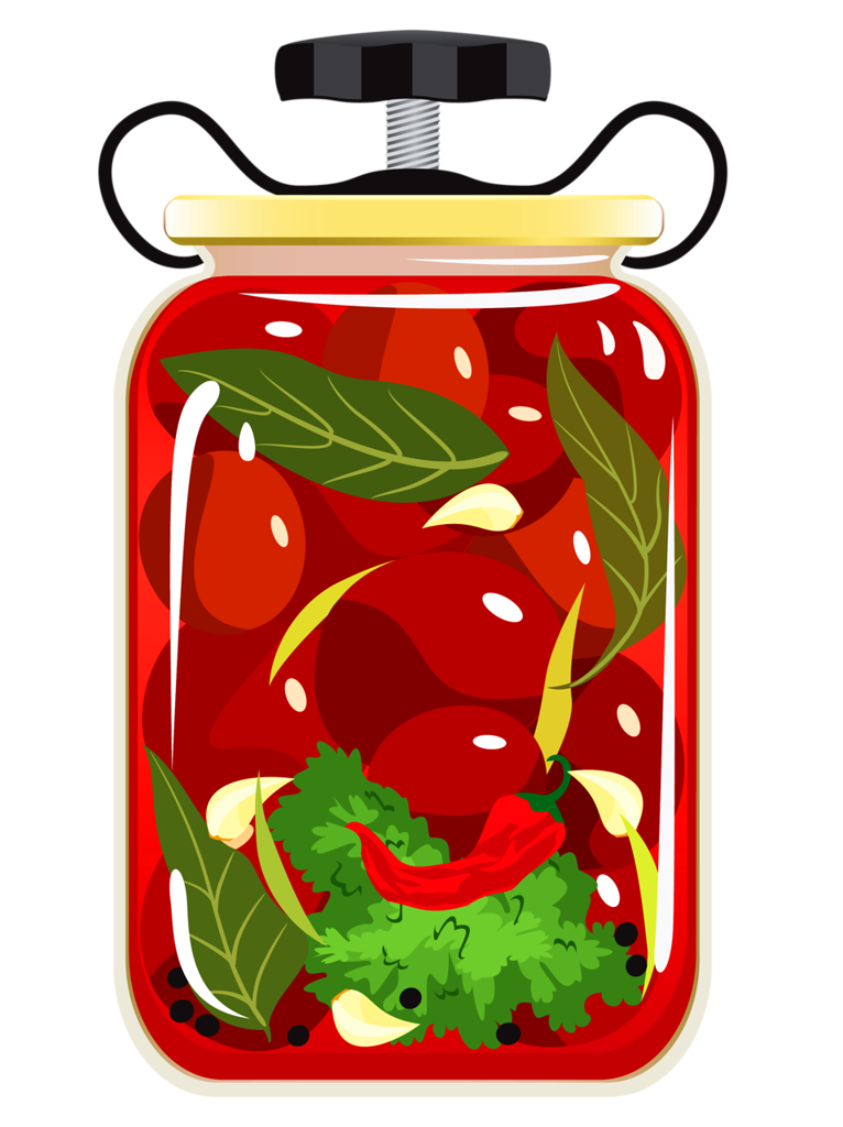 Картинка банка с помидорами для детей