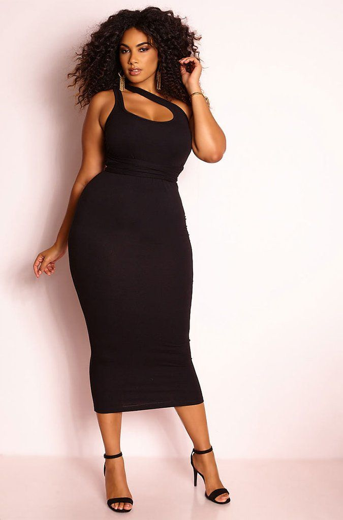 Rebdolls I Know Better Tied Up Maxi Dress Black Queen Fashion Big