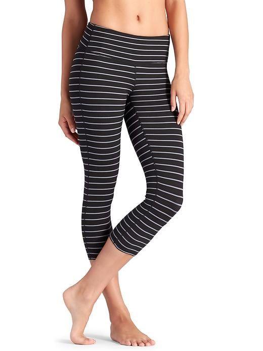 1fed80a4e84fb Athleta Stripes Chaturanga Capri in black/slate grey size XS White/grey