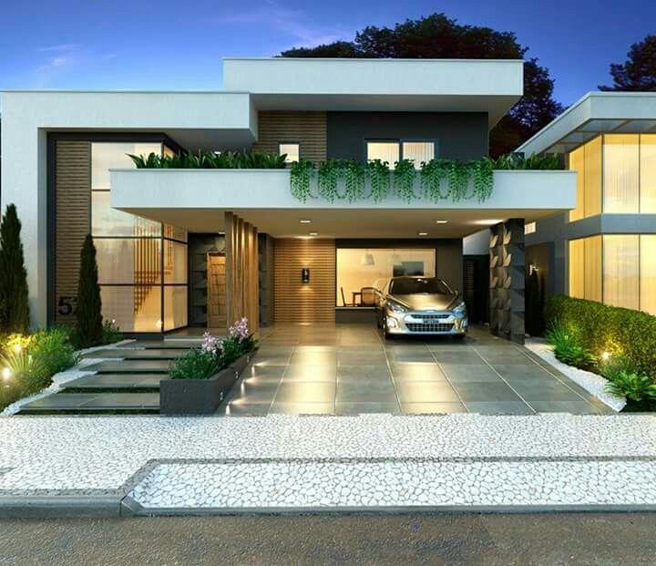 Bella garages pergolas en 2018 casas casas for Casa moderna bella faccia