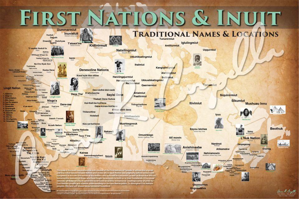 First Nations Native American Maps UsefulChartscom Teaching