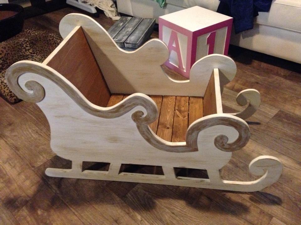 Love this sleigh pto pinterest trineo navidad y for Trineo madera decoracion