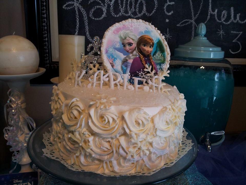 Frozen Cake... KarLea 5 years old Frozen cake, Cake