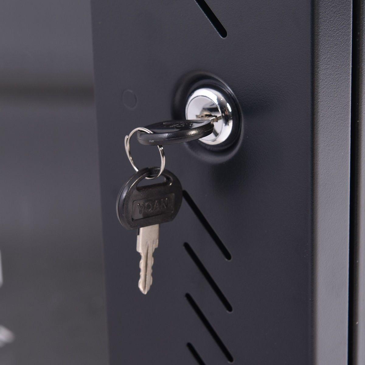 18u Wall Mount Network Server Data Cabinet W Fan Panel Siding Key Locks Server Cabinet