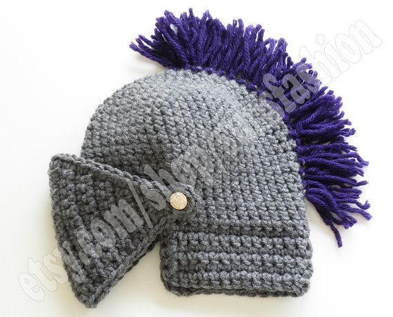 teen gift Knight Helmet Hat Crochet Slouch Mens Convertible Beanie ...