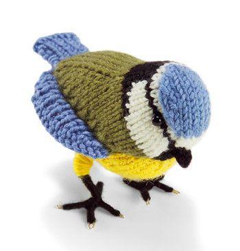 Free Knitting Pattern - Toys, Dolls & Stuff Animals: Knit Bird: Blue Tit #knittedtoys