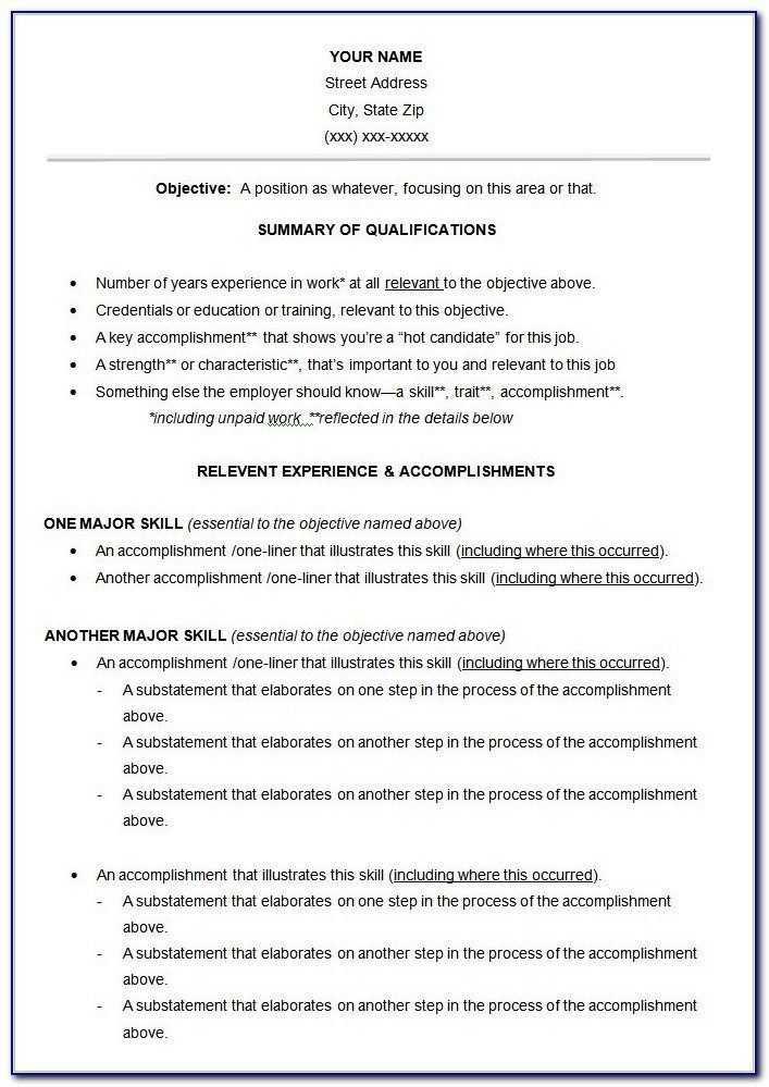 Great Functional Resume Template Free Ideas in 2020
