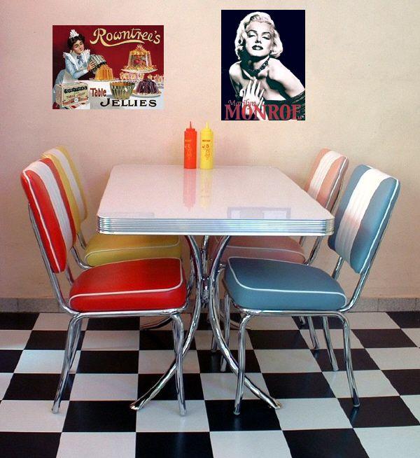 Rockabilly Kitchen Decor: Diner Style Kitchen #retro #vintage #furniture