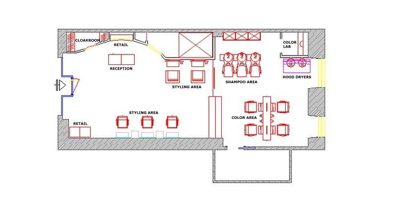 Sample Floor Plan 604 Sq Ft Design My Salon
