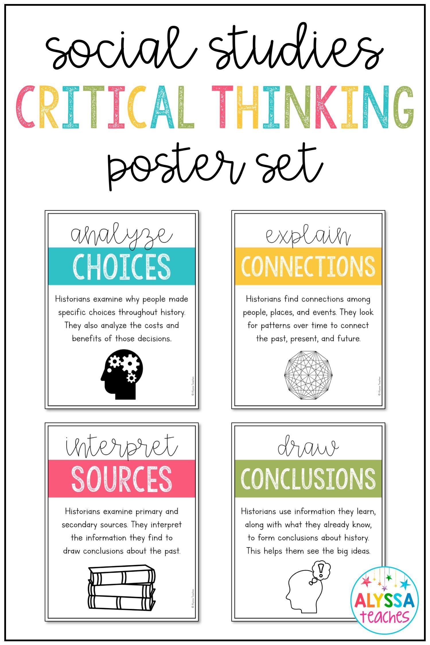Social Stu S Critical Thinking Skills Posters