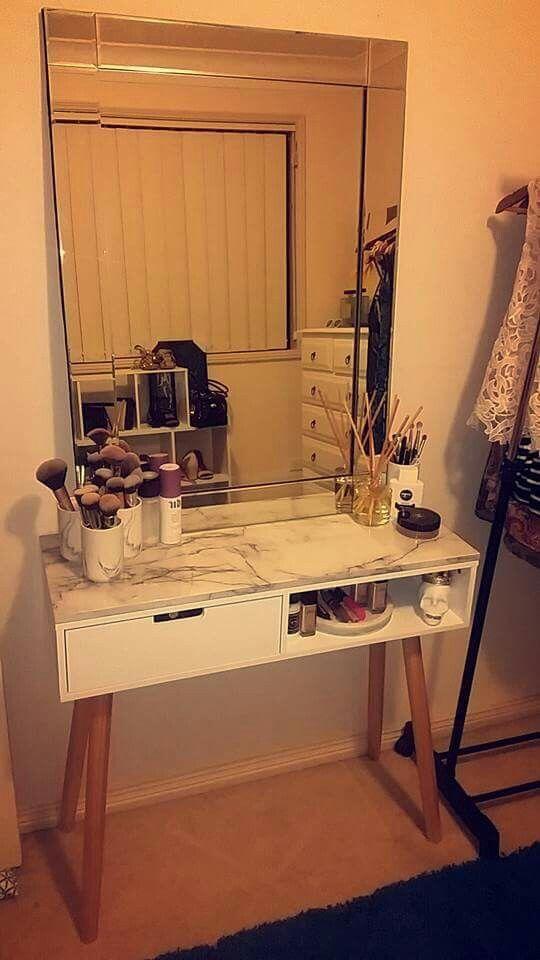 Kmart Table Marble Shelf And Mirror Kmarthack Decor Hacks Home