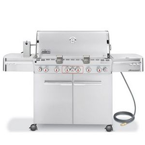 Weber Summit S 670 6 Burner Natural Gas Grill With Rotisserie Side Burner Pcrichard Com 7470001 Natural Gas Grill Gas Grill Stainless Steel Bbq Grill