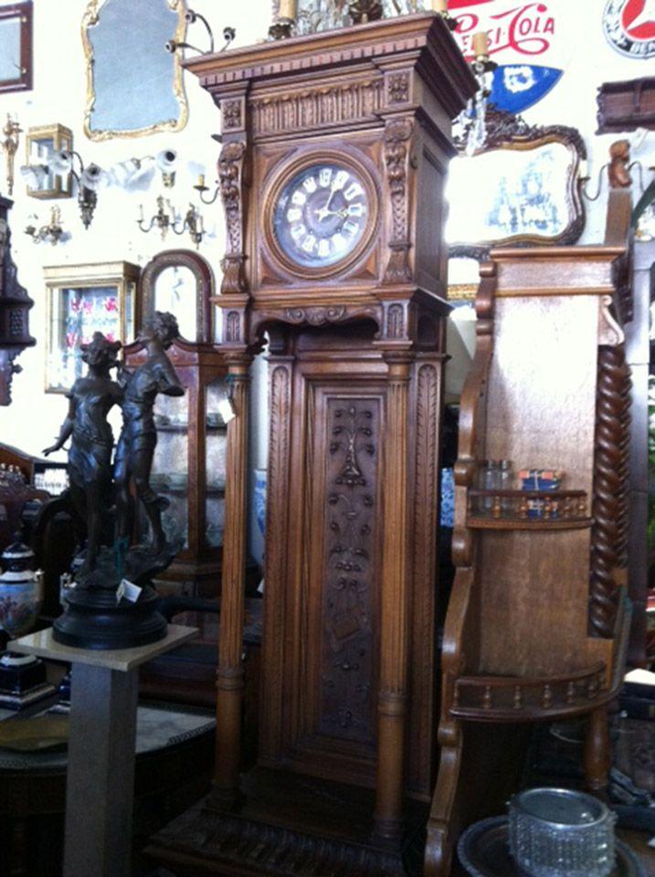 Imponente #reloj antiguo de pie en madera para decorar en salas de