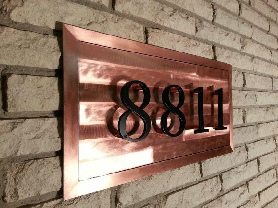 Copper House Numbers Address Sign Measures 1ft By 2ft By J2kmetal 129 95 Address Sign Copper House