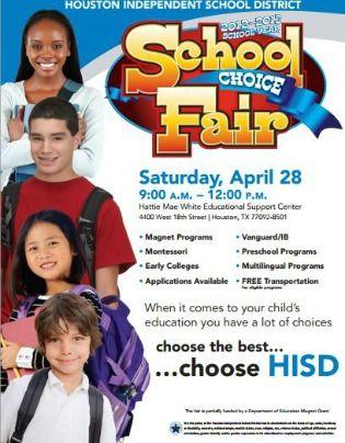 Houston Isd School Choice Fair The Image States April 28 But