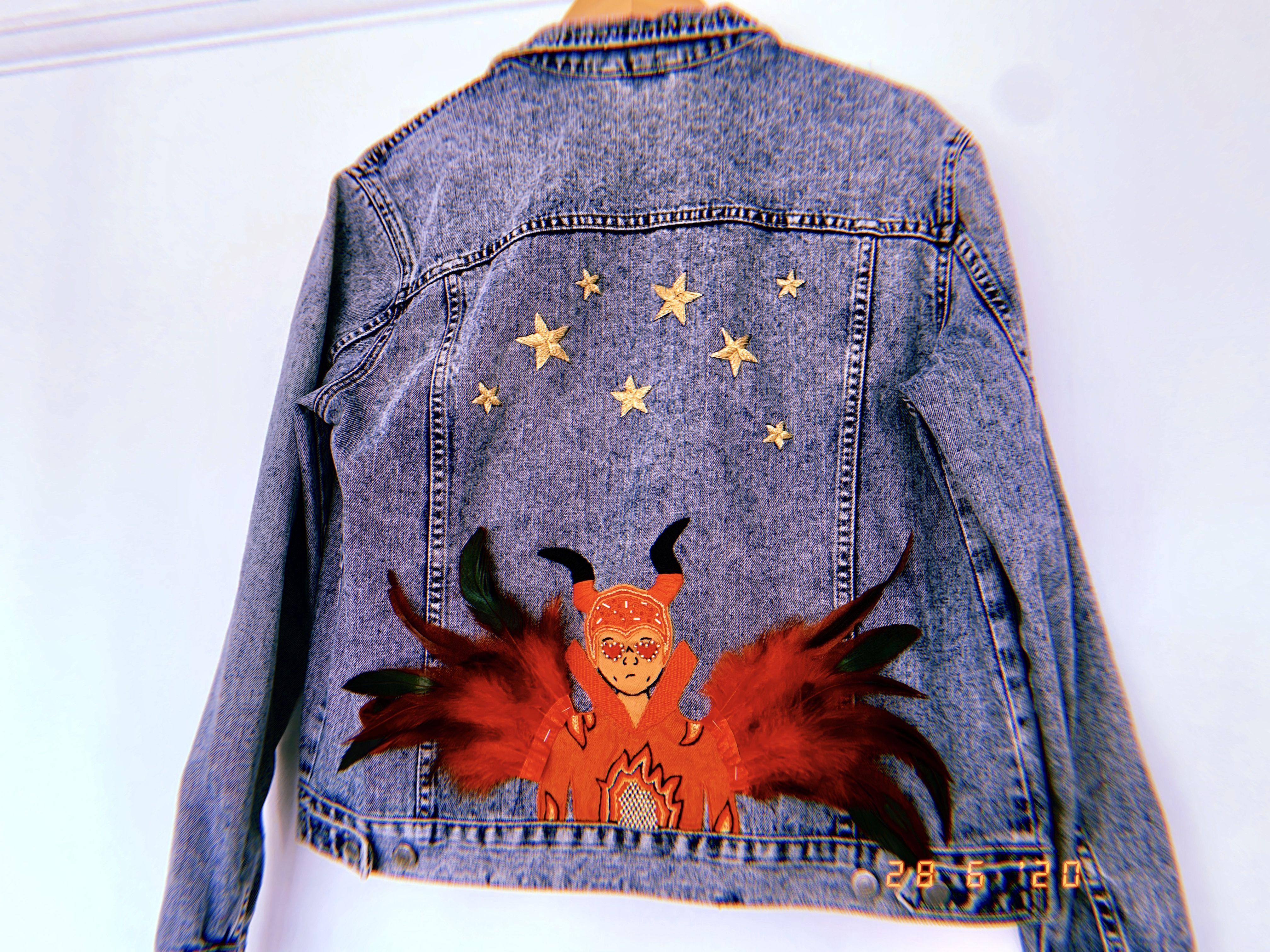 Elton John Denim Jacket In 2020 Denim Jacket Embroidered Denim Jacket Jackets [ 3024 x 4032 Pixel ]