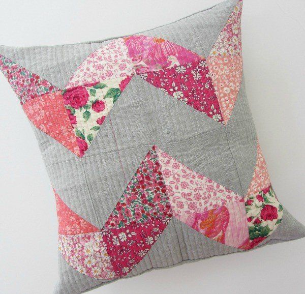 Finished chevron cushion | Sewing Projects | Pinterest | Patchwork ...
