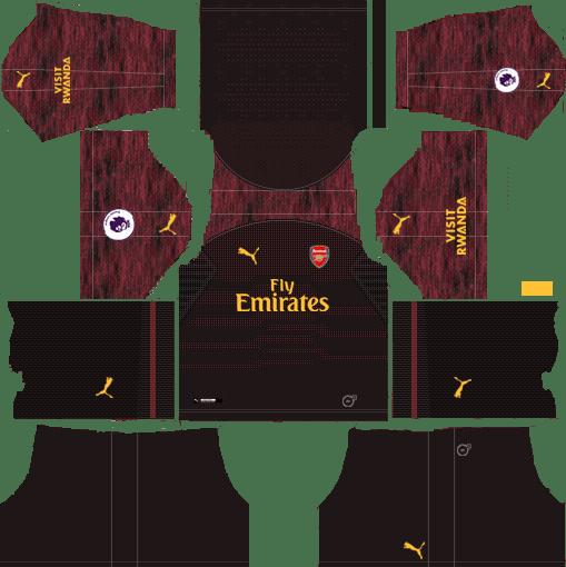 413f66dd17b Arsenal 2018-19 Kit Goalkeeper 512x512 Dream League Soccer Kits URL ...