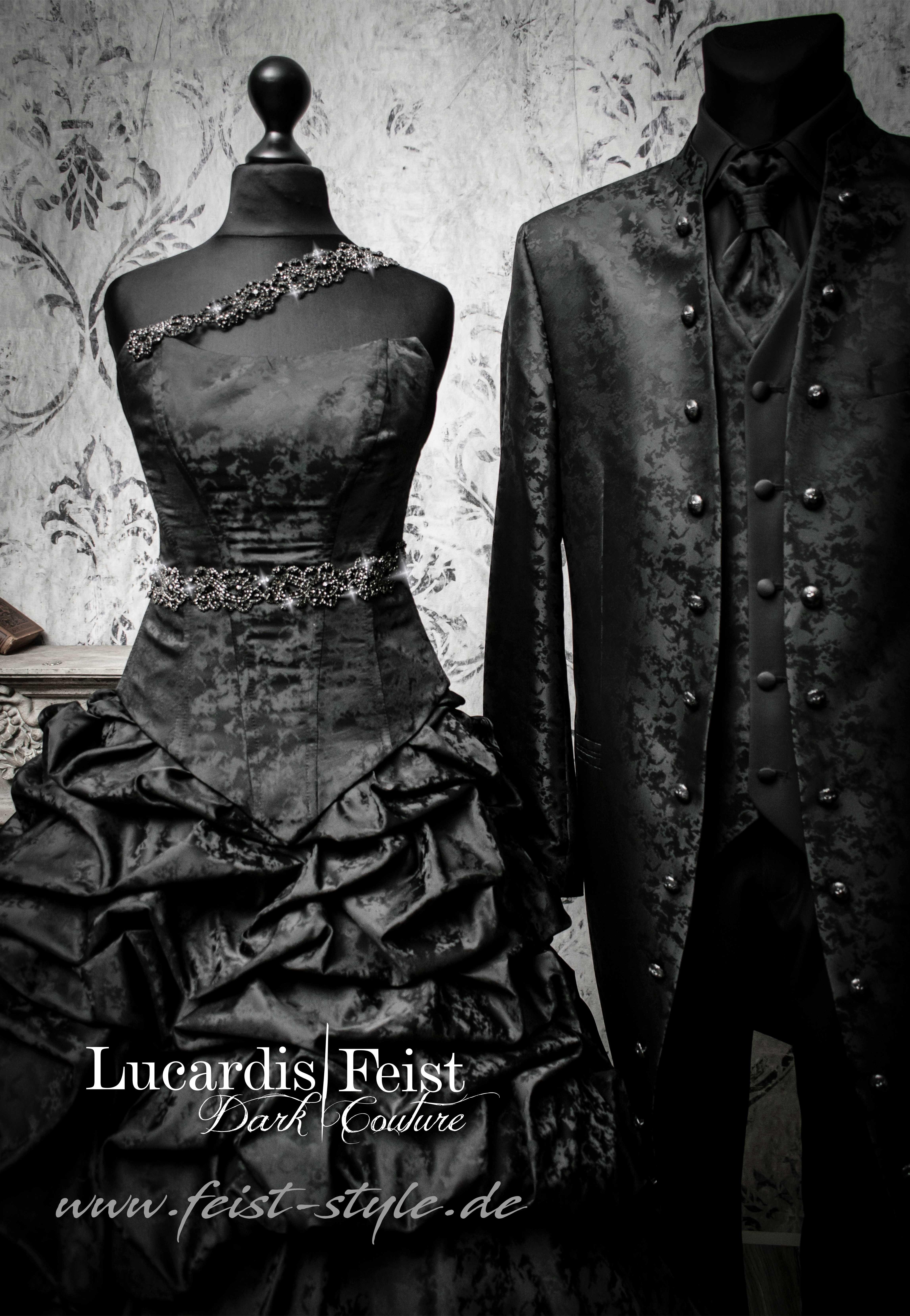 Das Brautkleid in Schwarz? Lucardis Feist  Brautmode, Schwarzes
