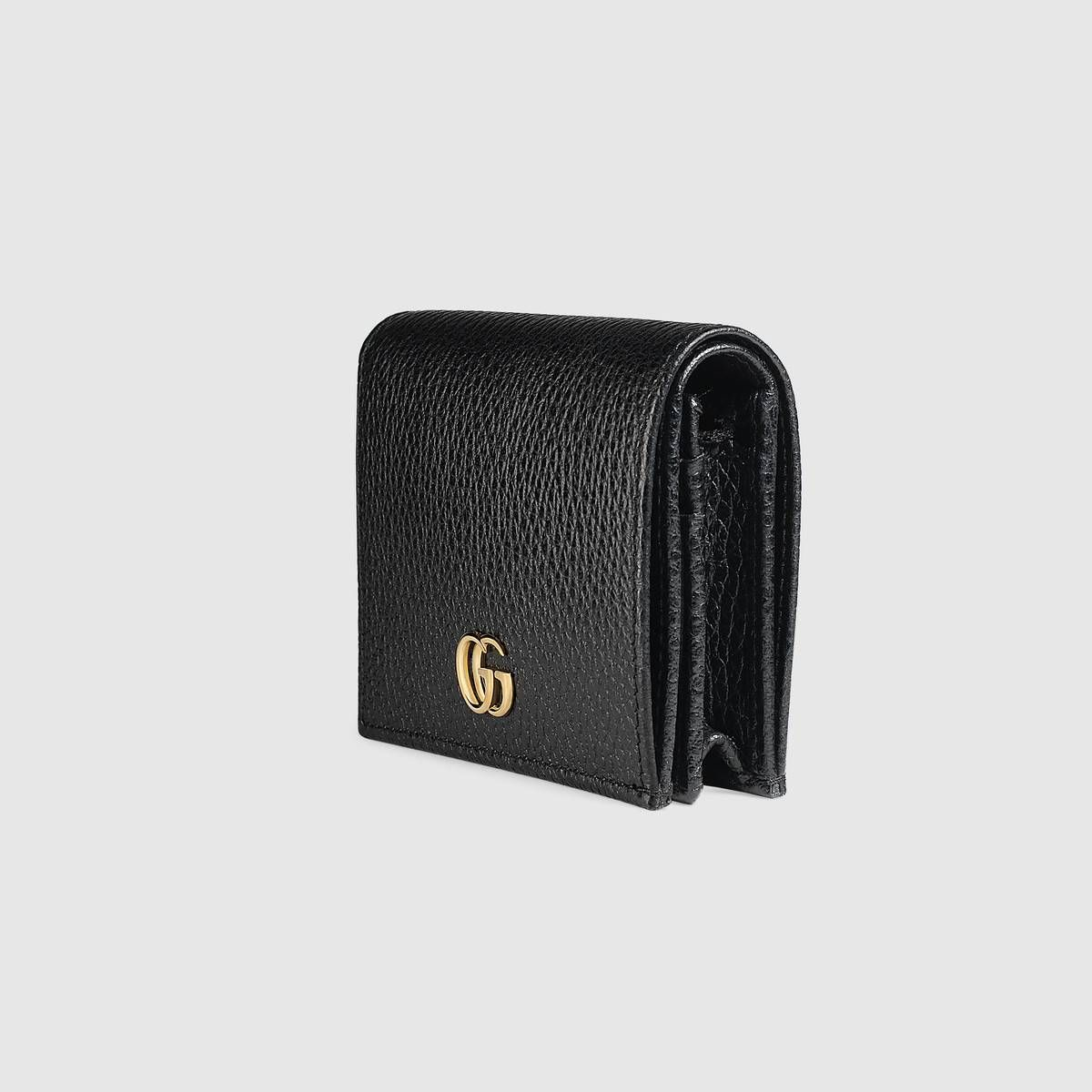 4e4ef329777 Leather card case in Black leather