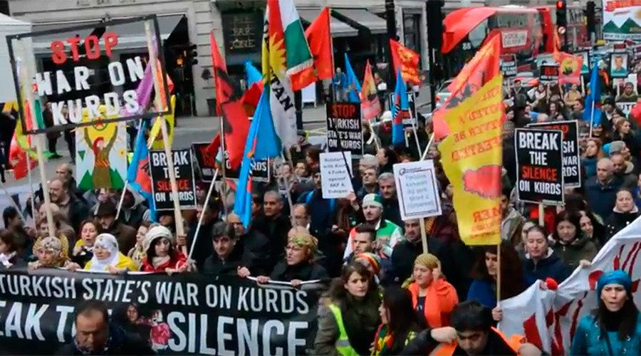 Media silent as thousands protest in London against Turkish war on Kurds