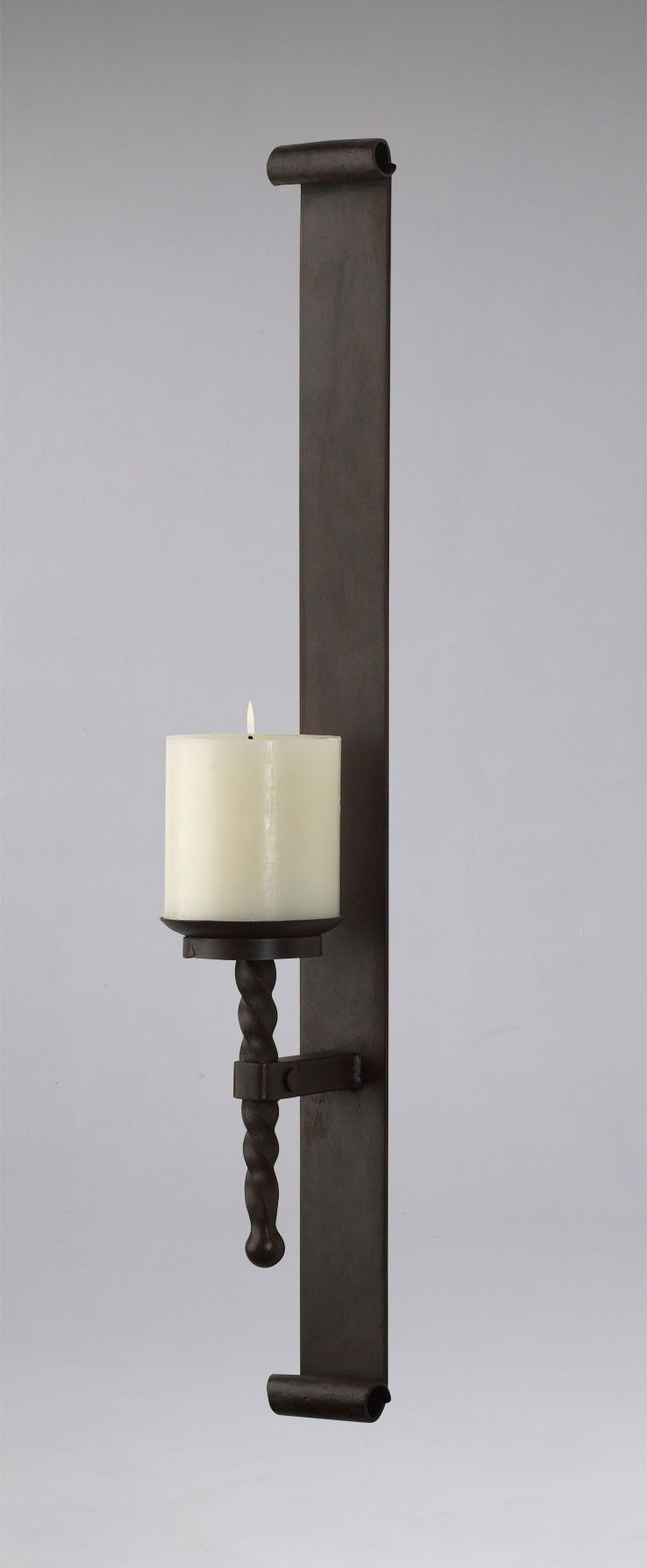 Tuscan Iron Wall Candle Holder Sconce Large Iron Wall Candle Holders Wall Candles Wall Candle Holders