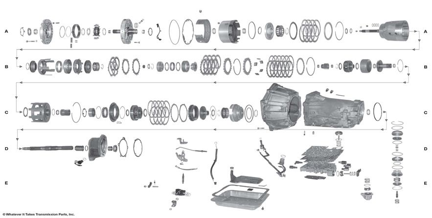 D Location Knock Sensor Bank Suburban Knock also Aa F A Bc Fe F Fc B in addition Flange likewise Chevrolet Lumina moreover Orig. on 1996 chevy suburban 4x4 transmission diagram