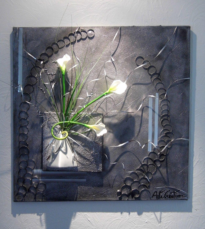 tableau floral mural design moderne d corations murales par arte creation d co murale. Black Bedroom Furniture Sets. Home Design Ideas