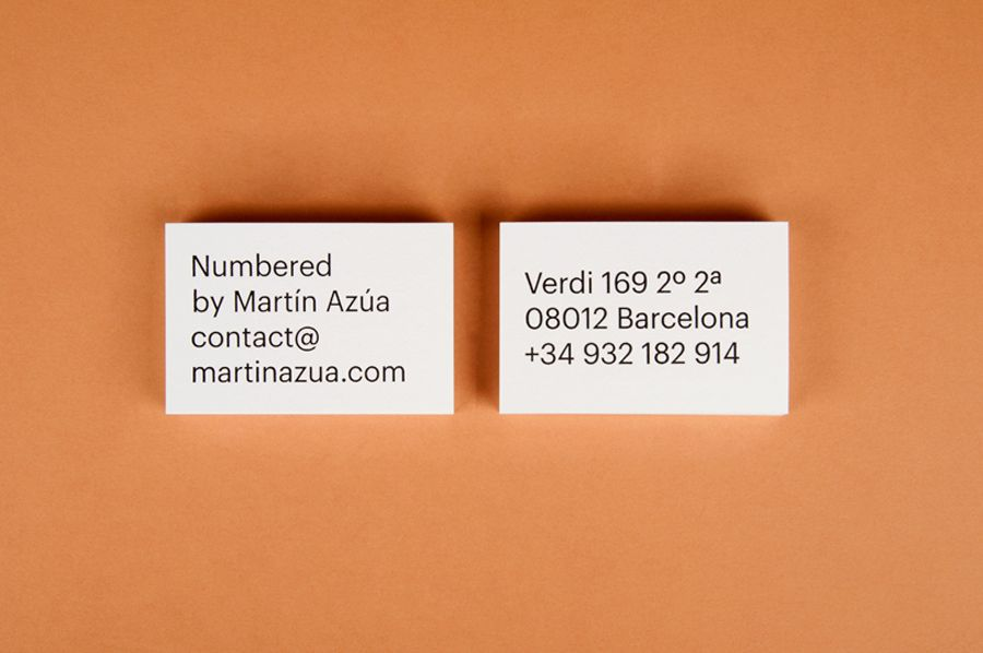 New Brand Identity for Numbered by Martín Azúa by P.A.R ...
