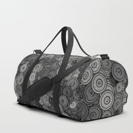 Heavy iron / 3D render of hundreds of heavy weight plates Duffle Bag