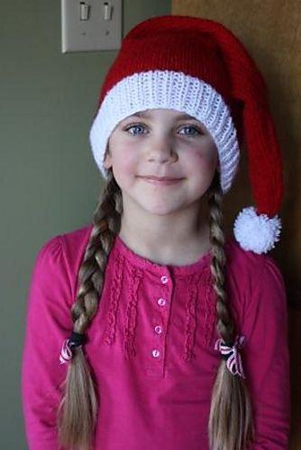 Ravelry: Knit Santa Hat pattern by Edie Eckman | Santa hat ...