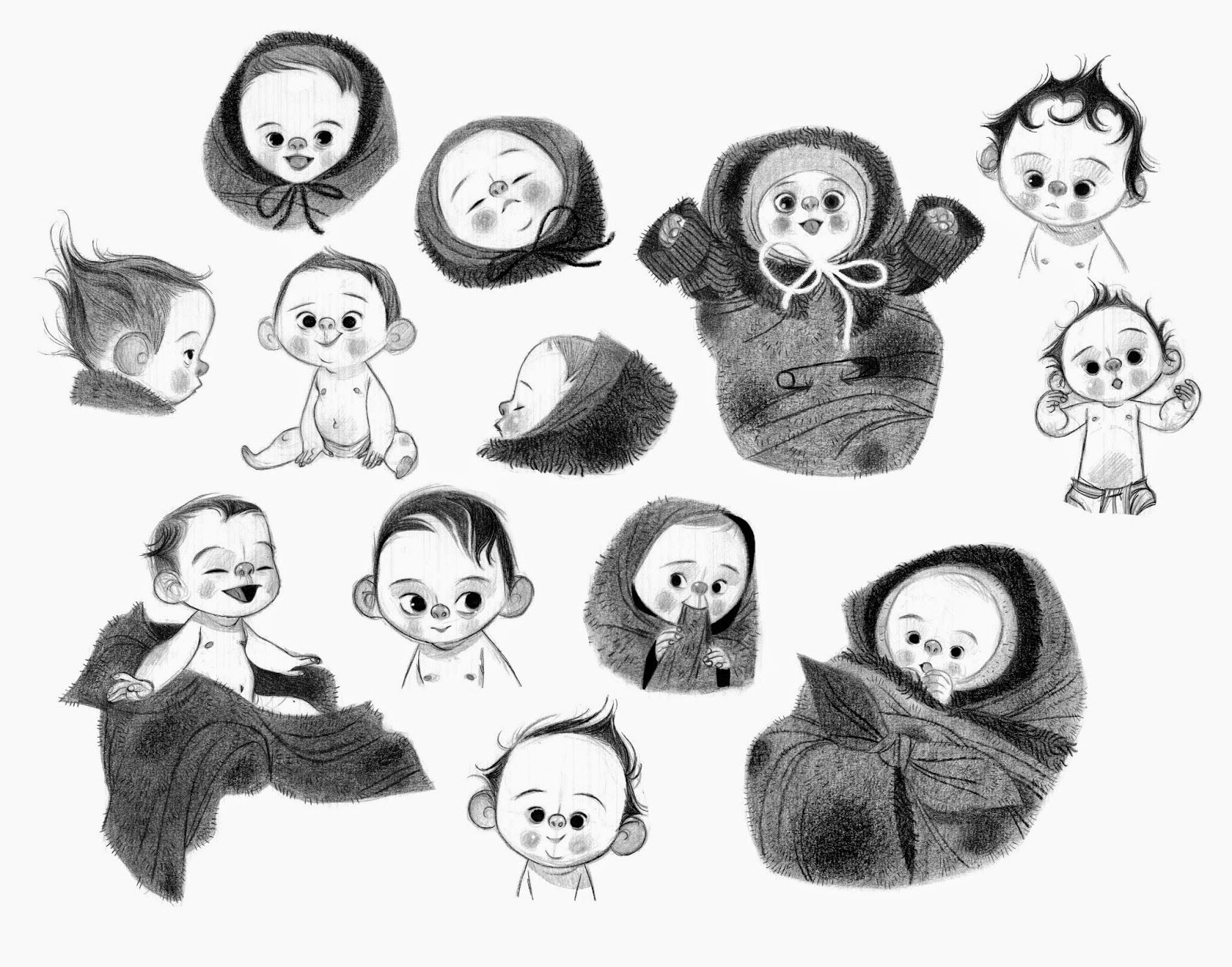 Line Art Baby : Boxtrolls baby character design and characters