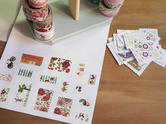 postales viajeras: sellos para adornar