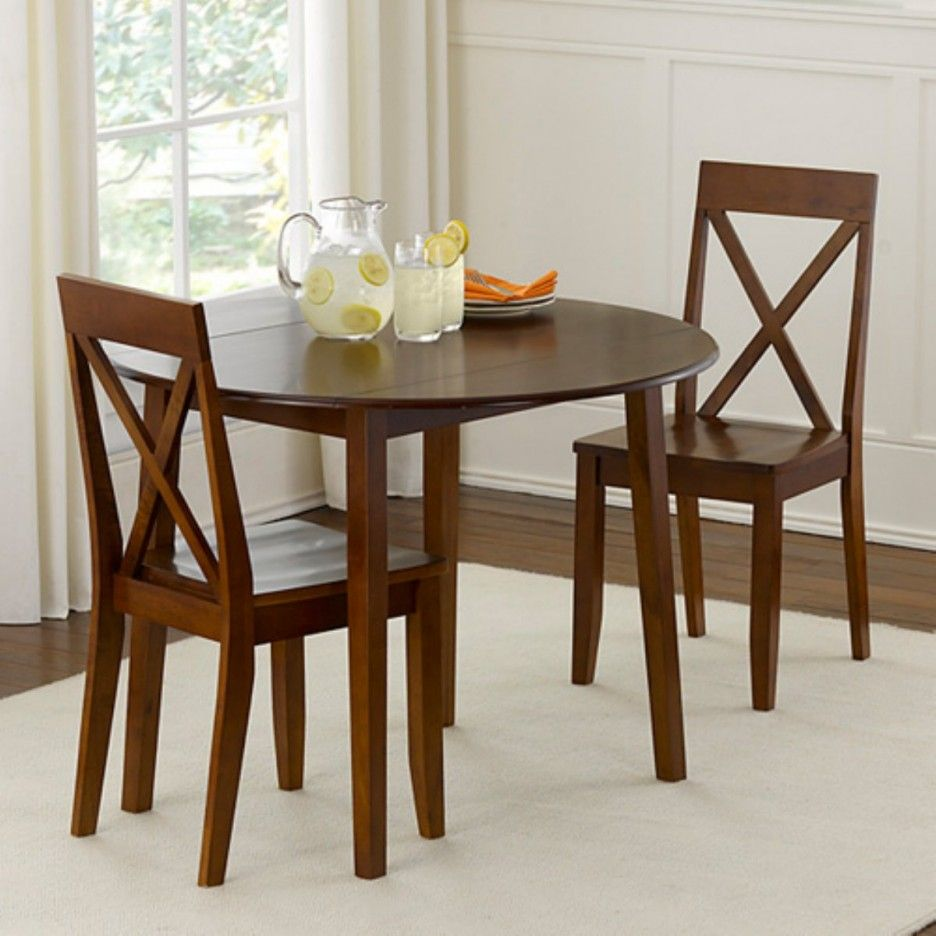 Simple Small Dining Tables Sets Unit Design Idea For Small Dining Room Design With White Rug Design Idea On Wooden FLooring