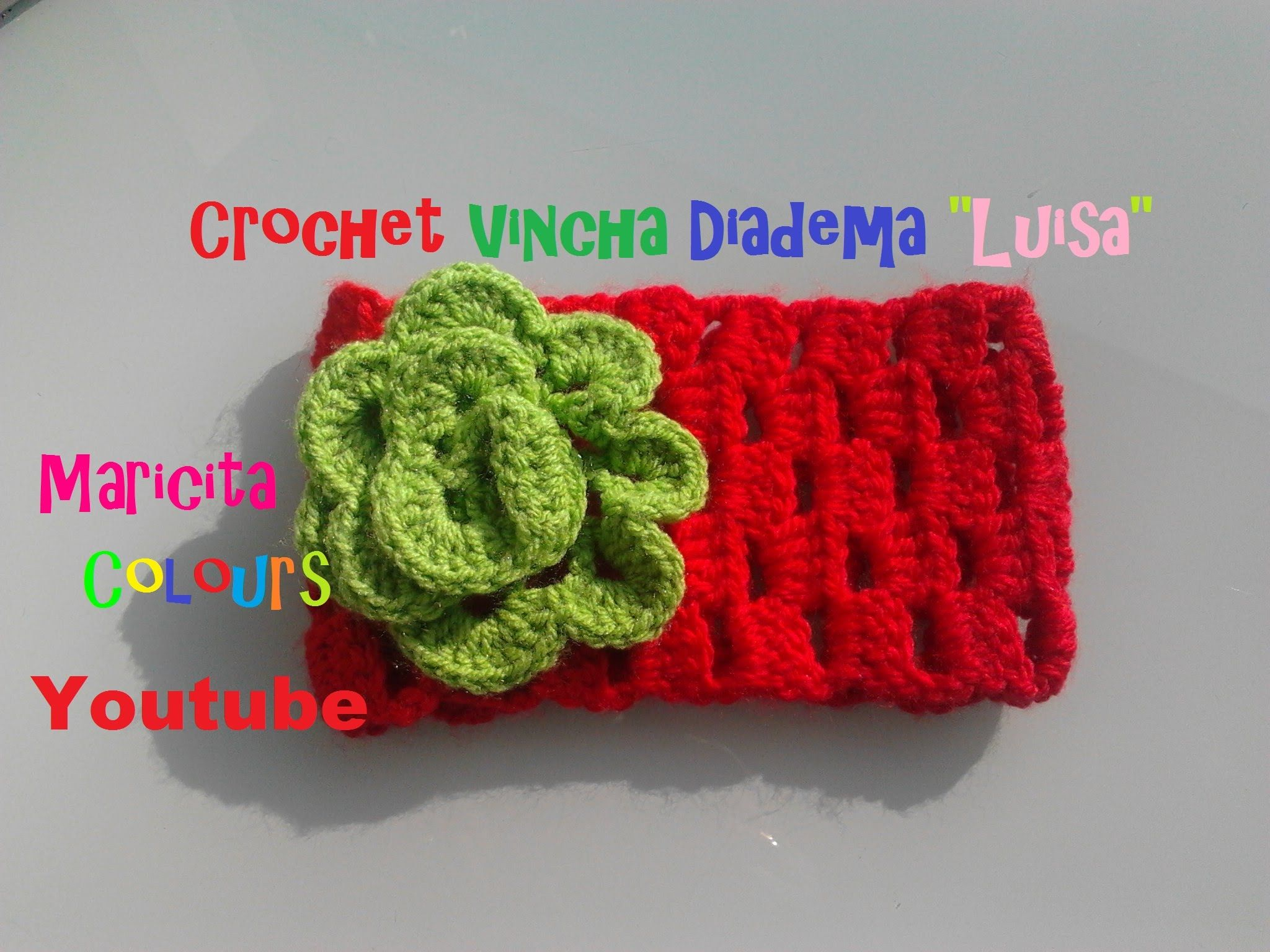 Crochet Tutorial Vincha Diadema \
